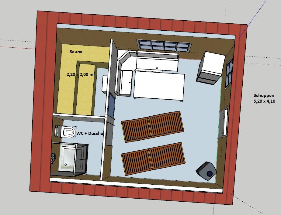 Sauna Fußboden Dämmen ~ Sauna in gartenschuppen