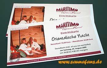 Orientalische Saunanacht im maritimo
